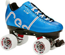 NEW! LABEDA VOODOO U3 BLUE QUAD SPEED ROLLER SKATES MENS sz 7 ABEC 9 $200 valu