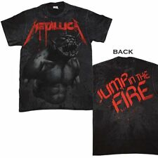 New Metallica Black Jump In The Fire Concert Tour Shirt Sm-XL Men's Women's