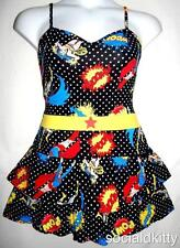 Juniors 2X XXL DC Comics Superhero punk TIERED lingerie DRESS plus torrid bow