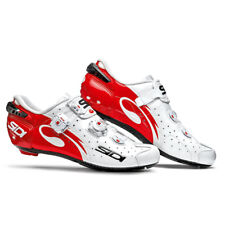 Sidi 2016 Men's Wire Vent Carbon Push Road Cycling Shoes - White/Red -