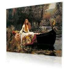CANVAS (Rolled) The Lady Of Shalott Waterhouse Wall Art Pictures Painting