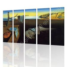 CANVAS (Rolled) The Persistence Of Memory Melting Watch Salvador Dali 5 Panels
