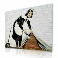 CANVAS (Rolled) Cleaning Lady Banksy Paintings Oil Paintings Prints Oil Paints