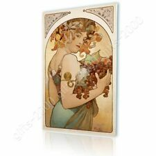 Alonline Art - CANVAS (Rolled) Fruit Alphonse Mucha Canvas For Kitchen Painting