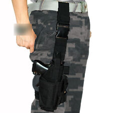 Adjustable Tactical Drop Leg Holster Pistol Hand Gun Thigh Puttee Holder-Black