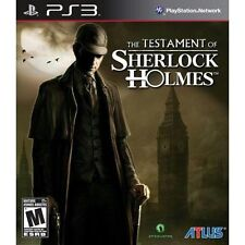 Sony PlayStation 3 Game THE TESTAMENT OF SHERLOCK HOLMES -WITH MANUAL!!