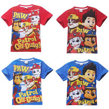 New Cute Kids Boys Printing Cartoon Cotton T-shirt Casual Loose Tops Shirts2-7Y