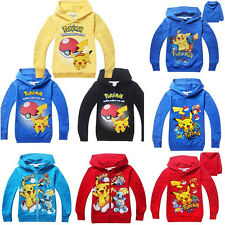 New Cute Cartoon Kids Boys Girls Casual Hoodies Long Sleeve Clothes 2-10 Years