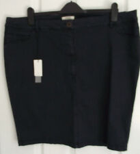 Ladies Papaya Weekend Stretch Navy Denim Skirt Size 20  New with Tags