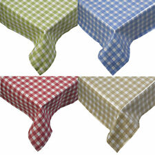 Tablecloth Traditional Gingham Check 100% Cotton Picnic Kitchen Table Linen