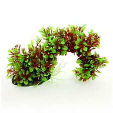Artificial Green Red Arch Style Plants Ornament for Fish Tank