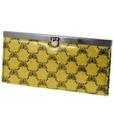 Butterfly Pattern Flip Lock Closure Faux Leather Wallet Purse for Lady