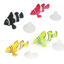 Aquarium Suction Cup Simulated Floating Striped Fish Decor