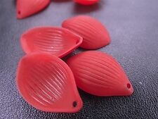 16x24mm 40/80pcs FROSTED DARK RED ACRYLIC PLASTIC PETAL BEADS CHARMS TY85722