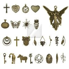 2-35pcs Lots Antique Brass Metal Charm Pendants Supplies Jewellery Making OB