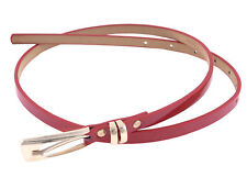 Rectangle One Pin Buckle Fuax Leather Slender Waist Belt for Women