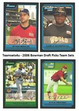 2006 Bowman Draft Picks and Prospects Baseball Baseball Set ** Pick Your Team **