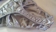 Mens Satin Shiny Custom S M or L USA hand made Thongs Rio or brief pouch LINED