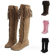 Womens Synthetic Suede Comfy Gorgeous Western Boots UK sz 1 2 3 4 5 6 7 8