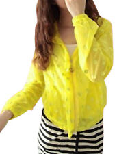 Lady Long Sleeve Stretchy Cuff Hoodie Zipped Front Summer Jacket