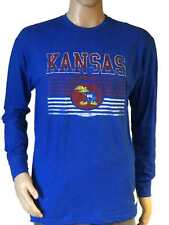Kansas Jayhawks 1941 Retro Brand Blue Vintage Faded Logo Long Sleeve T-Shirt