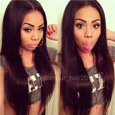 Soft Indian Remy Human Hair Straight Full Lace Wigs Lace Front Wigs Baby Hair