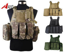 Tactical Military USMC MOLLE Plate Carrier Combat Vest Airsoft Paintball Hunting