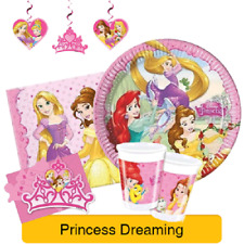 Disney PRINCESS DREAMING Birthday Party Range - Tableware Balloons & Decorations