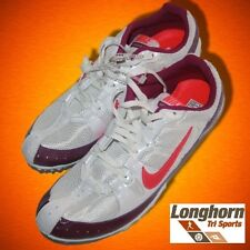NEW Nike Zoom Rival MD Track Field Spikes 12.5 Running Shoes White Pink 46.5