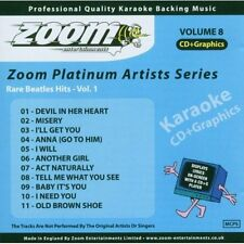 Zoom Karaoke CD+G - Platinum Artists 8: Rare Beatles Hits Vol. 1 Zoom Karaoke Au