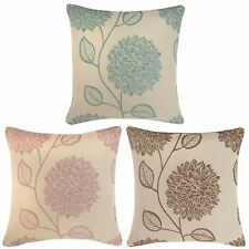 LAYLA LUXURY FLORAL REVERSIBLE CHENILLE CUSHION COVERS 45cm x 45cm