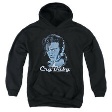 Cry Baby King Cry Baby Big Boys Youth Pullover Hoodie BLACK