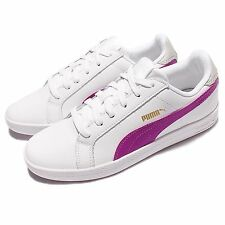 Puma Smash Wns L White Purple Women Sportstyle Shoes Casual Sneakers 360780-09