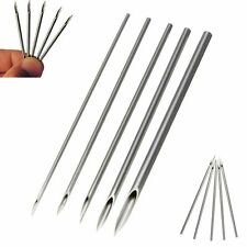 10pcs Sterile Piercing Needles 12/14/16/18/20G Surgical Steel for Navel Nose Lip