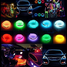 Neon LED Light Glow EL Wire String Strip Rope Tube Car Dance Party W/inverter