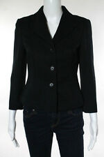 Kulson Black Textured Wool Button Front Blazer Size Italian 42