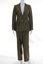 Shin Choi Coleridge Brown Striped Blazer Pants Suit Set Size 2 6