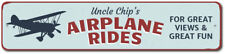 Airplane Rides Sign, Custom Pilot Name Gift, Personalized Aviation ENSA1002345