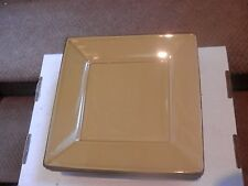 """Pottery Barn ASIAN SQUARE """" MUSTARD GOLD """" color Square Dinner Plate 10 3/8"""""""