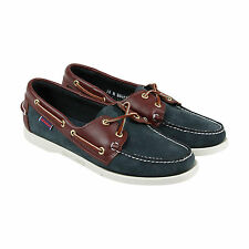 Sebago Spinnaker Womens Brown Leather Casual Dress Lace Up Boat Shoes Shoes