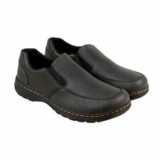 Dr. Martens Brennan Mens Brown Leather Casual Dress Slip On Loafers Shoes
