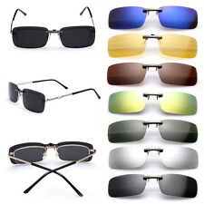 UV400 Sunglasses Driving Glasses Polarized Clip On Flip-up Day Night Vision Lens