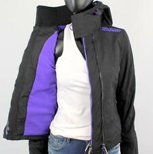 Superdry Ladies Arctic Polar WINDCHEATER Fleece Jacket Black Violet X85