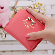 Fashion Women's Mini Faux Leather Lady Purse Wallet Card Holders Handbag Clutch