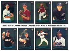 2000 Bowman Chrome Draft Picks & Prospects Baseball Set ** Pick Your Team **
