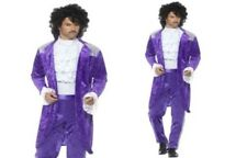 Adult Purple Musician Costume Celebrity Pop Idol Prince Fancy Dress Outfit