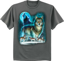wolf t-shirt wolves decal tee shirt for men nature wildlife lone wolf howling