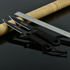 Outdoor Camping Fishing Hunting Saber Diving Legging knife Tool Fixed Blade