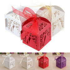 20PCS Luxury Wedding Party Sweets Cake Laser Candy Gift Favour Favors Boxes