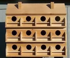 PURPLE MARTIN BIRD HOUSE WITH 12 COMPARTMENTS WESTERN RED CEDAR . BIRDS FREE S/H
